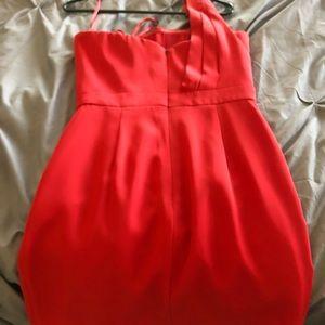 BCBG Dresses - BCBG Red One Shoulder Dress